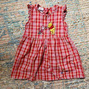 Disney Winnie the Pooh Plaid Dress | 3T